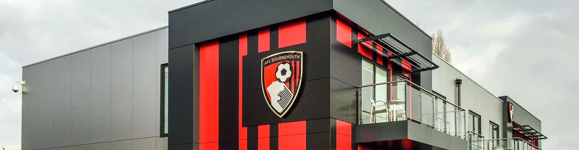 AFC Bournemouth Training Pavilion, T&T Carpentry & Facades Slide