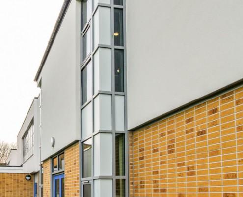 Merton School Gebrik & Envirowall Render, T&T Carpentry & Facades 8