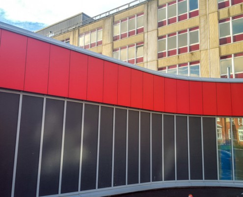 Southampton General Hospital Cladding & Curtain Walling Works, T & T Carpentry & Facades 5