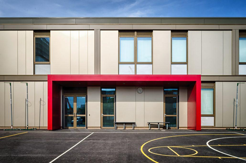 greatfields school t t facades rainscreen cladding sfs. Black Bedroom Furniture Sets. Home Design Ideas