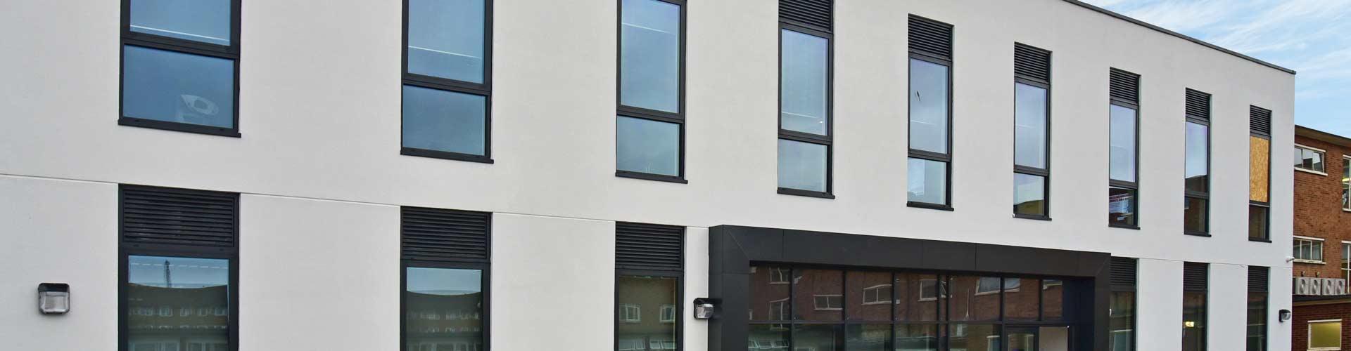 Insulated Render T&T Facades Robert Clack School